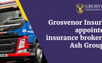 GROSVENOR INSURANCE BROKERS HAVE BEEN APPOINTED AS INSURANCE BROKERS FOR ASH GROUP LTD