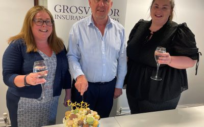 Grosvenor Insurance Brokers, celebrates a great milestone in the company's history this month by employing it's 21st employee.